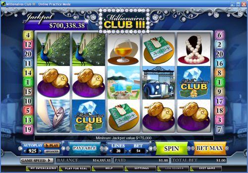millionaires club progressive jackpot slot