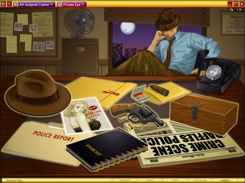 private eye casino game