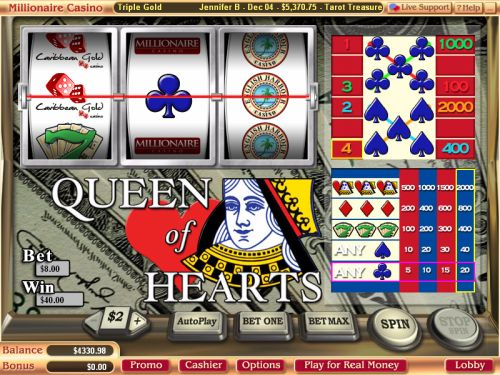 slot machine queen of hearts