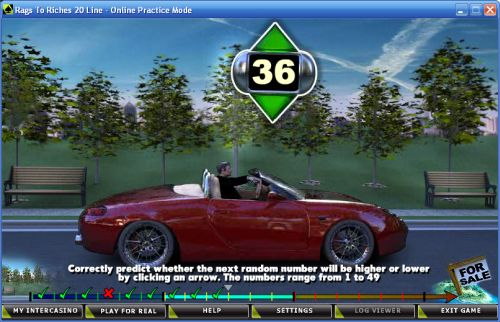 rags to riches car racing bonus game