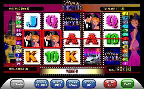 rich and famous slot