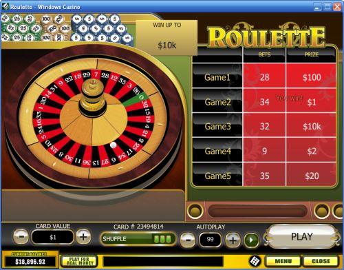roulette scratch card
