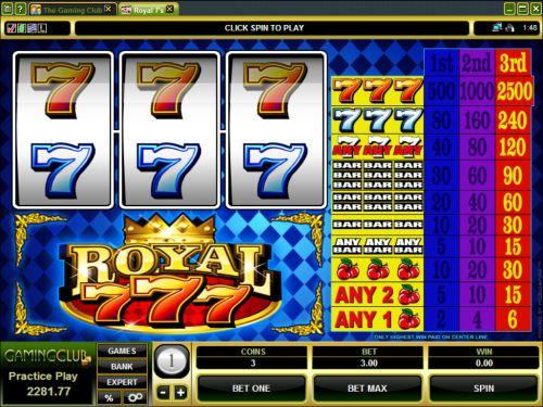 royal 7s classic slot