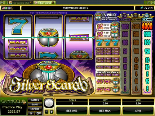 silver scarab classic slot