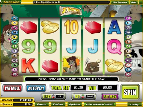 solomons mines video slot