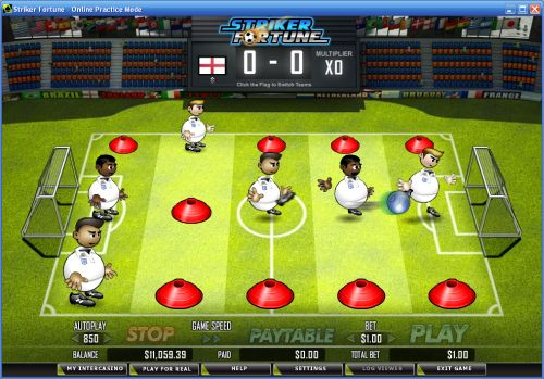 striker fortune table football game