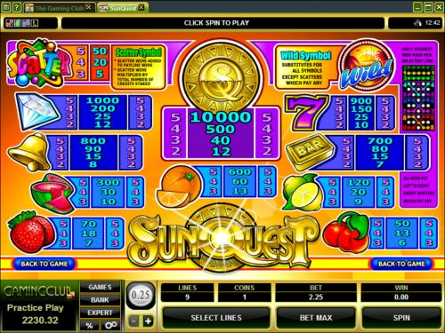 sunquest casino game