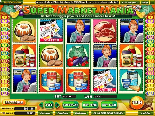 supermarket mania video slot