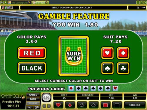 sure win video slot