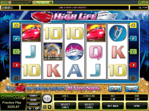 high life video slot