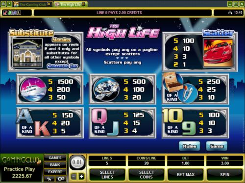 high life casino game