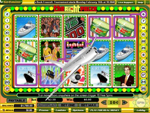 the right prize video slot