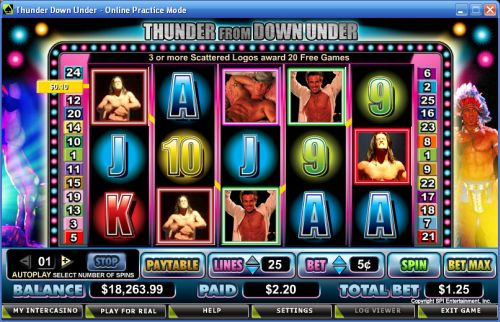 thunder down under video slot