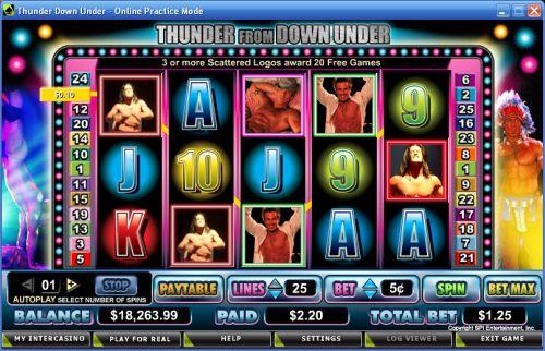 thunder down under video slot