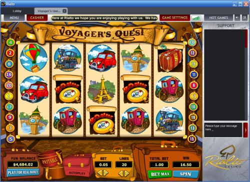 voyagers quest slot