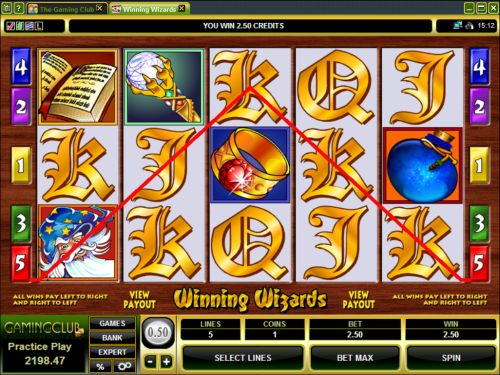 winning wizards video slot