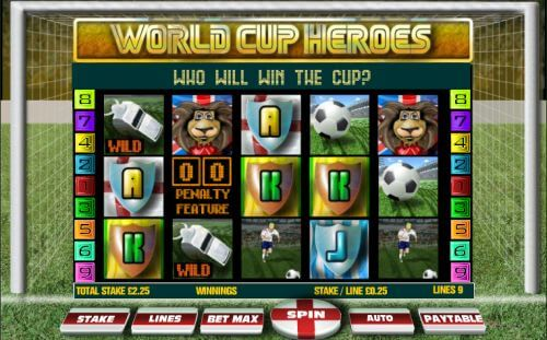 World Cup Heroes Slot - Play this Video Slot Online