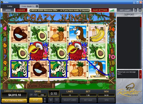 crazy jungle slot