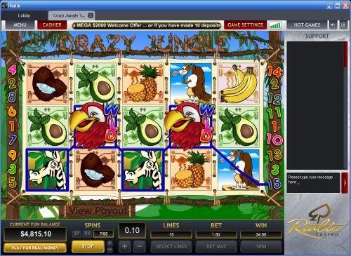 crazy jungle slot