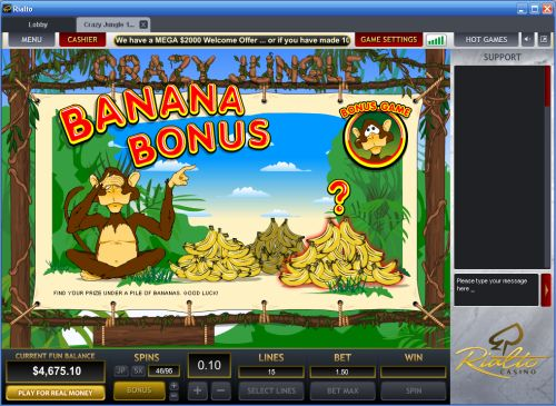 crazy jungle casino game