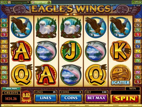 eagles wing video slot
