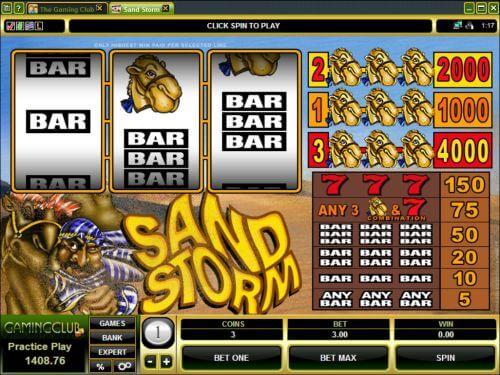 sand storm slot machine