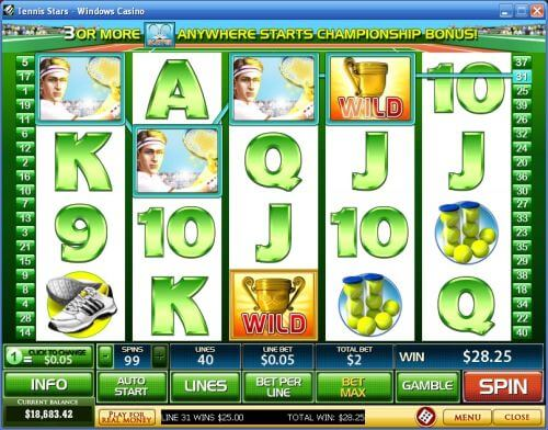 tennis stars slot machine
