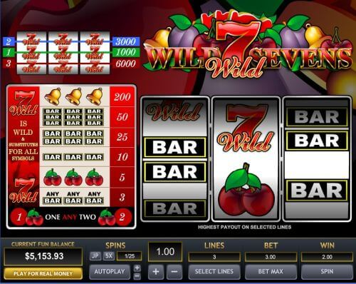 wild 7s slot machines