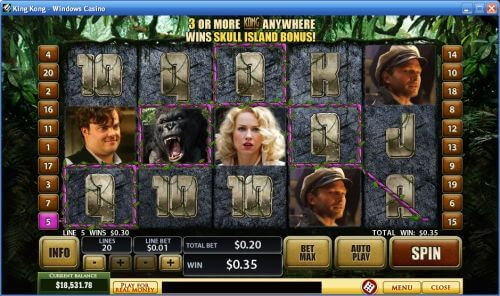 king kong video slot