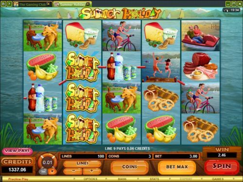 summer holiday slot machine