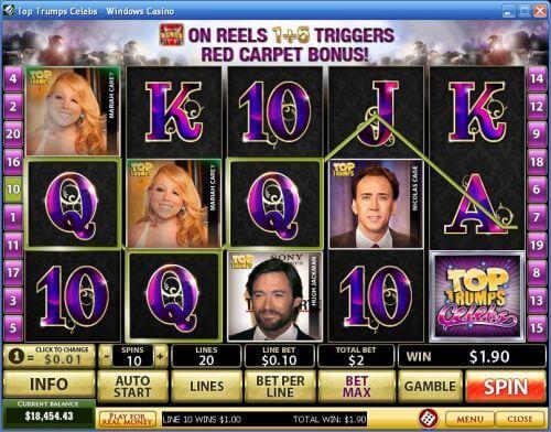 Top Trumps Celebs Slot Machine Online ᐈ Playtech™ Casino Slots