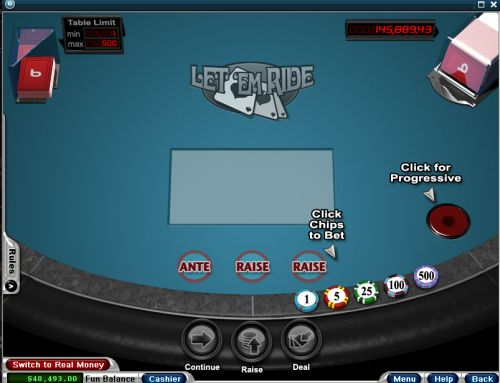 How to the Casino Card Game Play Let It Ride