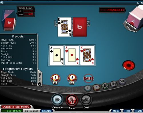 how to play let it ride poker
