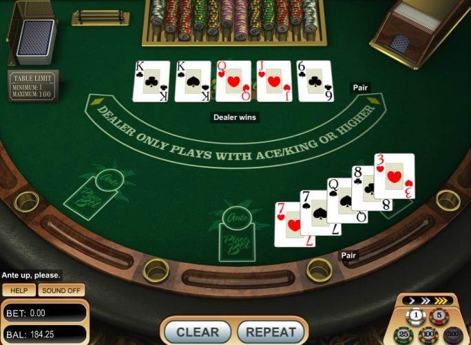 casino online for free caribbean stud