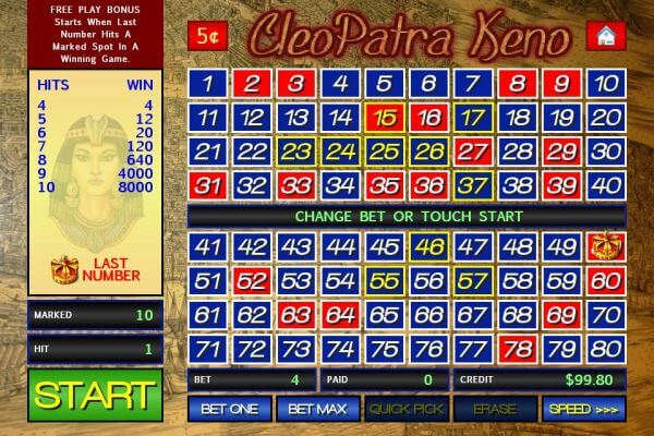 play-cleopatra-keno-online-for-free